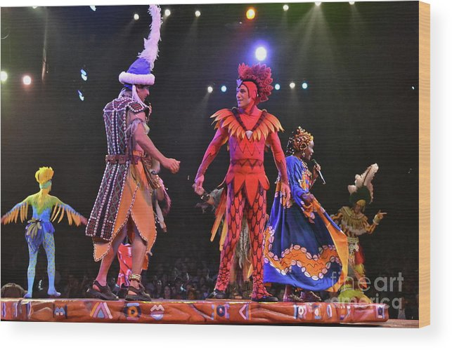 Animal Kingdom Wood Print featuring the photograph Lion King Performers by Carol Bradley