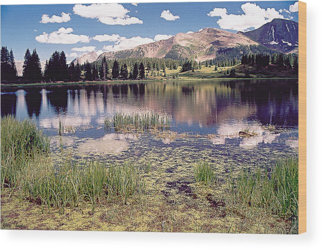 Lake Wood Print featuring the photograph Little Molas Lake Colorado by Greg Taylor
