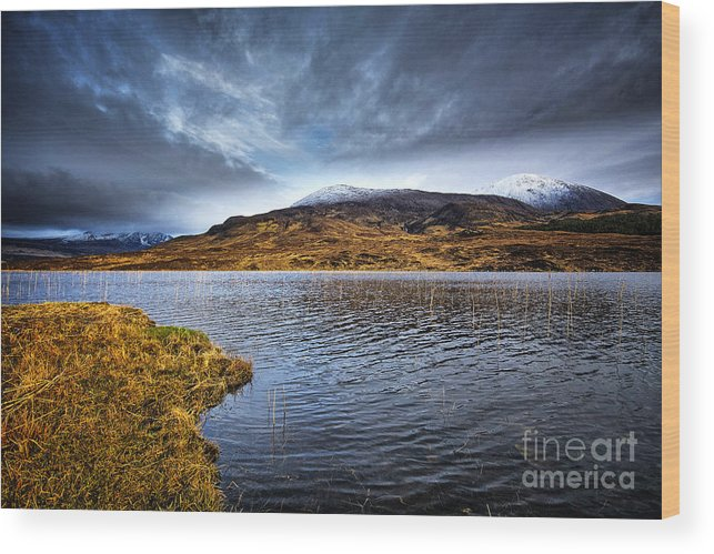 Loch Cill Chrisiod Wood Print featuring the photograph Loch Cill Chrisiod by Smart Aviation