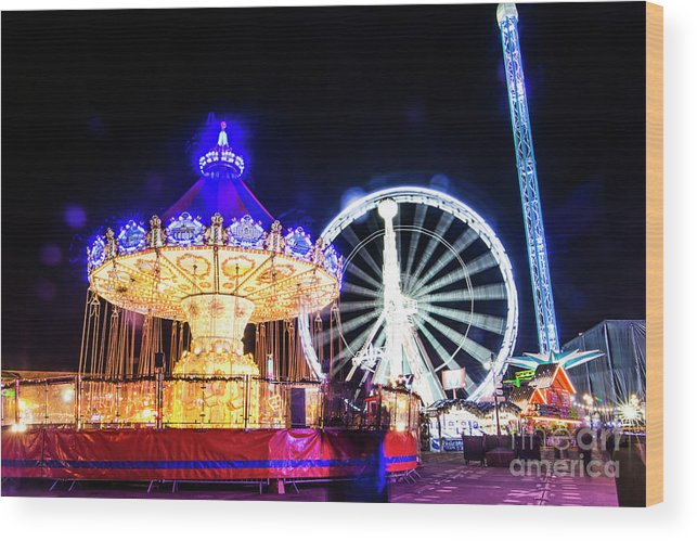 Street Artist Wood Print featuring the photograph London Christmas Markets 17 by Alex Art and Photo