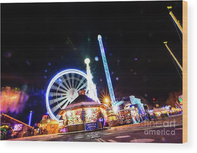Street Artist Wood Print featuring the photograph London Christmas Markets 18 by Alex Art and Photo