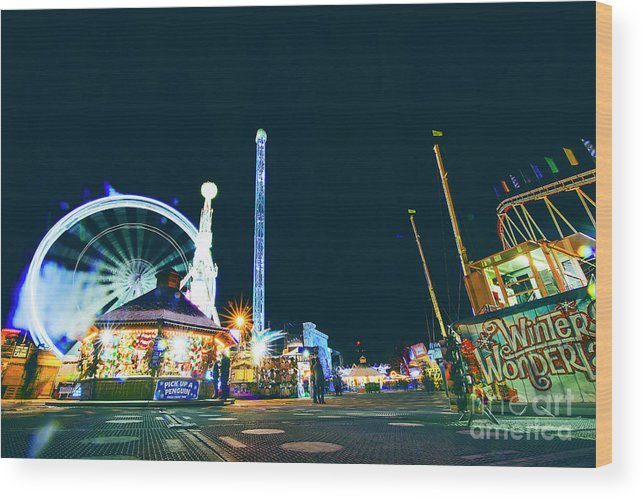 Street Artist Wood Print featuring the photograph London Christmas Markets 23 by Alex Art and Photo