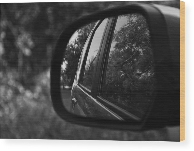 Mirror Wood Print featuring the photograph Long Drive by Aditi Shree