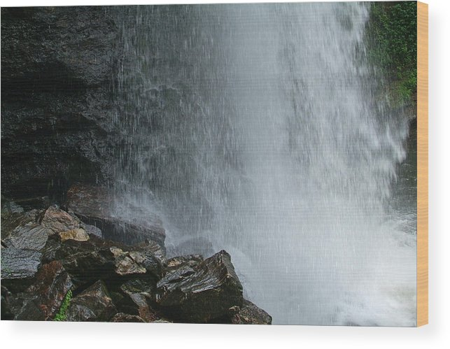 Waterfalls Wood Print featuring the photograph Loooking Glass Falls by Christal Randolph