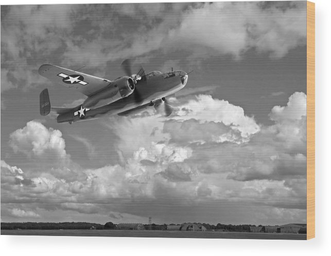 Aviation Wood Print featuring the photograph Low Pass by Gill Billington