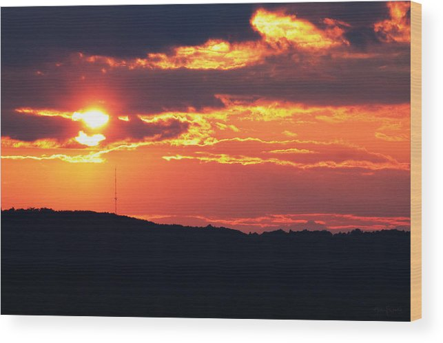 Sunset Wood Print featuring the photograph Main Attraction by Nancy Coelho