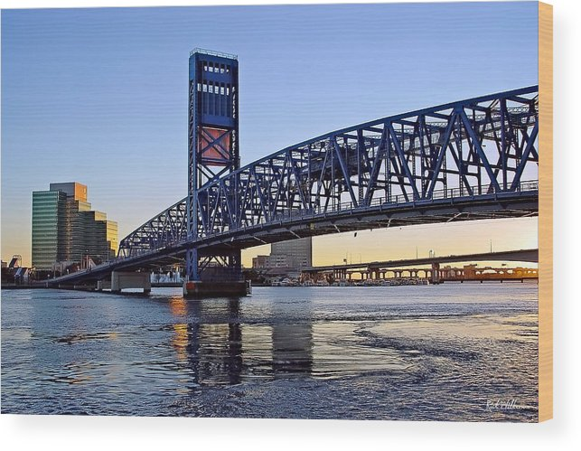 Jacksonville Wood Print featuring the photograph Main Street Bridge At Sunset by Rick Wilkerson