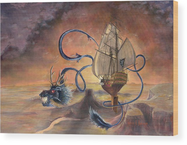 Fantasy Wood Print featuring the painting Majestic Accord by Jeff Brimley