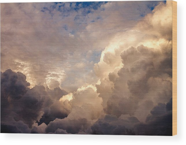 Clearwater Wood Print featuring the photograph Majestic Clouds by Jane Luxton