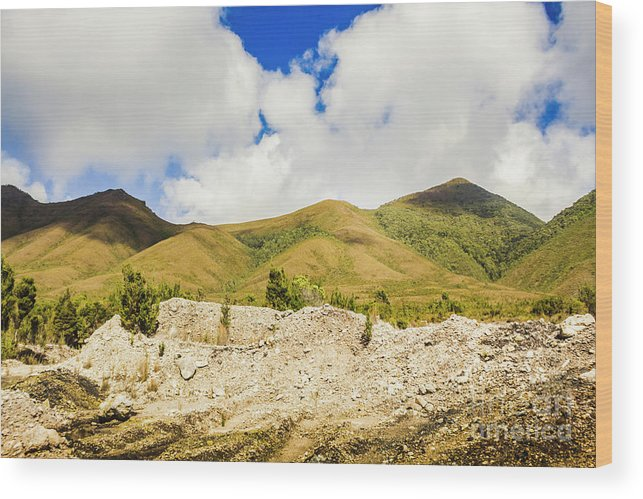 Tasmania Wood Print featuring the photograph Majestic Rugged Australia Landscape by Jorgo Photography - Wall Art Gallery