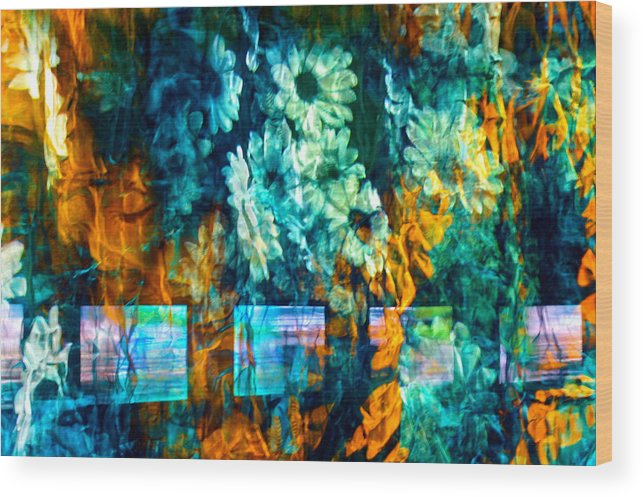 Abstract Wood Print featuring the photograph Malerische - Picturesque by Linda McRae