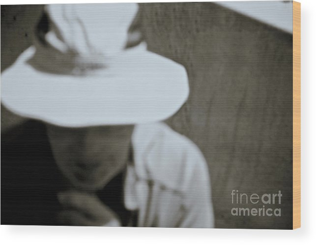 Hat Wood Print featuring the photograph Man With A Hat by Stanton Tubb