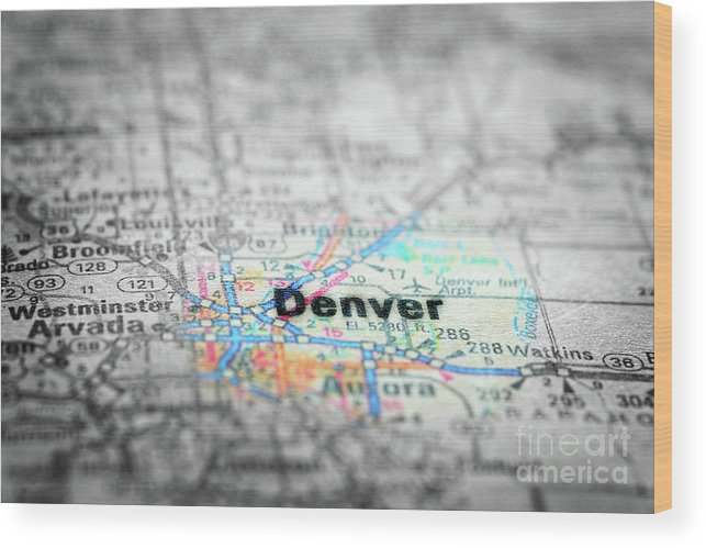 America Wood Print featuring the photograph Map View For Travel To Locations And Destinations by Lane Erickson