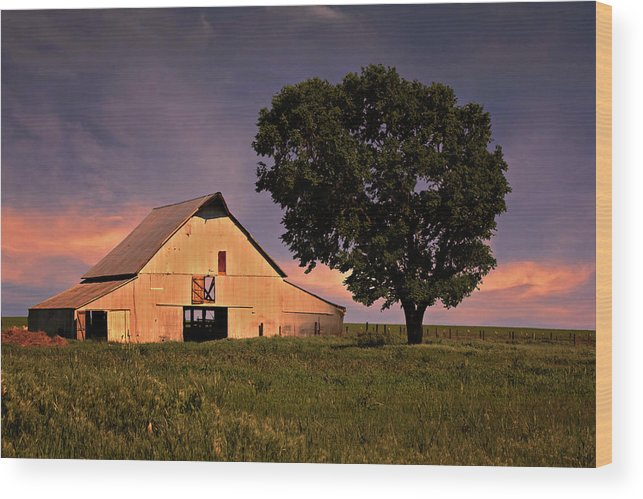 Ok Wood Print featuring the photograph Marshall's Farm by Lana Trussell