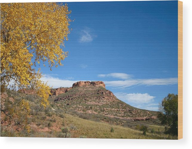 Western Wood Print featuring the photograph Masonville Bluffs by Perspective Imagery