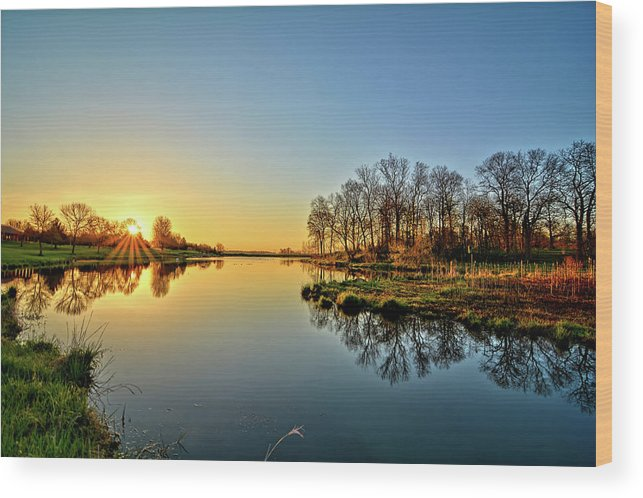 Sunrise Wood Print featuring the photograph Maynes Grove Spring Rise by Bonfire Photography