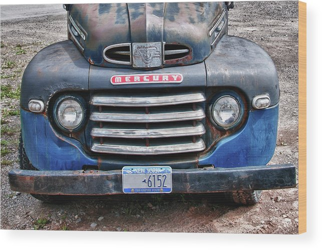 Antique Car Wood Print featuring the photograph Mercury 2234 by Guy Whiteley