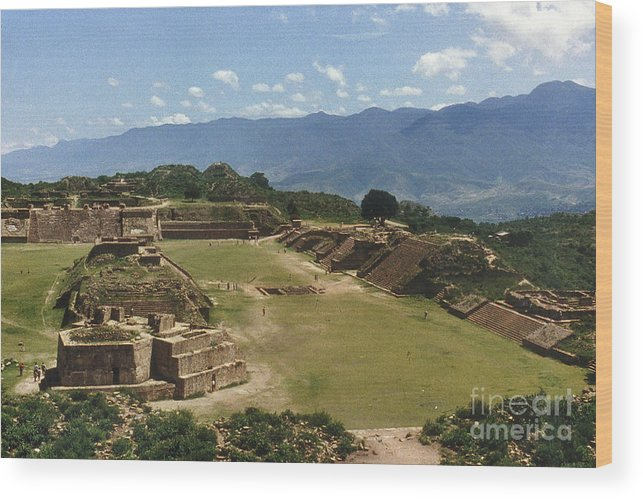 American Indian Wood Print featuring the photograph Mexico: Monte Alban by Granger