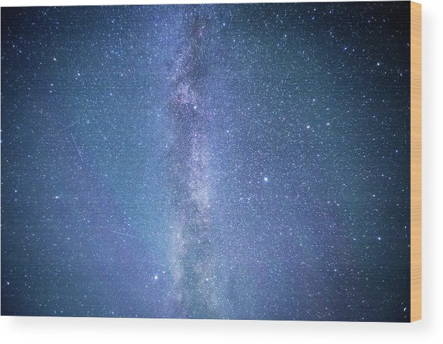Milkyway Wood Print featuring the photograph Milky Way by Rimantas Matulionis