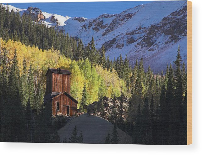 Colorado Wood Print featuring the photograph Mining Ruins by Steve Stuller