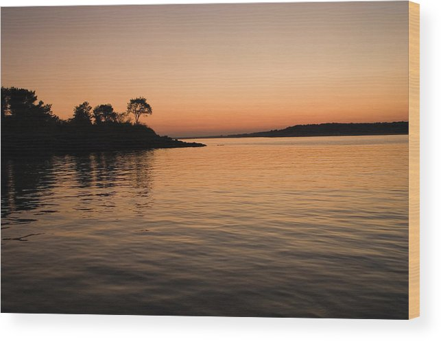 Silhouette Wood Print featuring the photograph Misery Island Sunset by Jack Foley