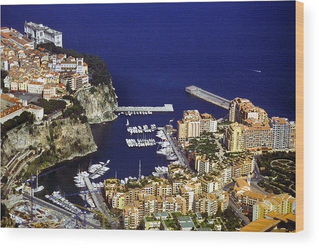 Rich Wood Print featuring the photograph Monaco On The Mediterranean by Carl Purcell