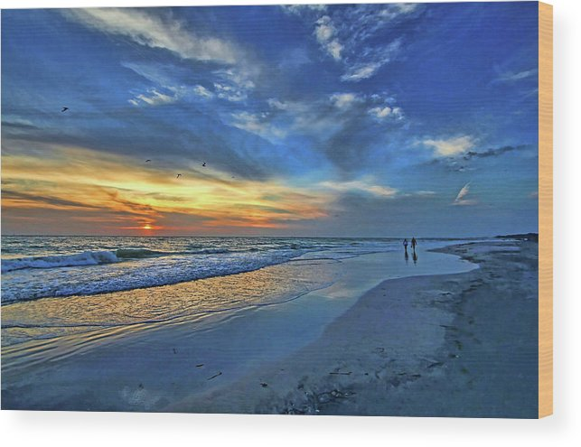 Gulf Of Mexico Wood Print featuring the photograph Moody Blues by HH Photography of Florida