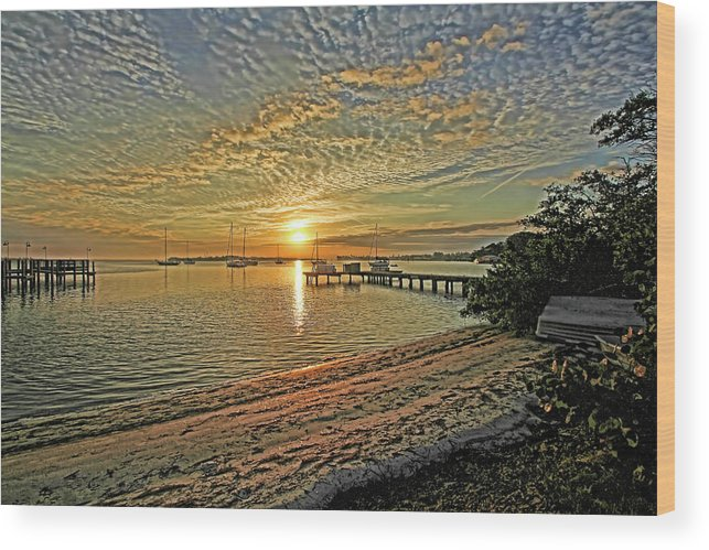 Longboat Key Florida Wood Print featuring the photograph Mornings Embrace by HH Photography of Florida
