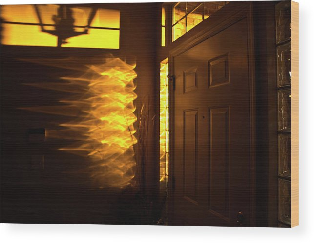 Early Wood Print featuring the photograph Morning's Golden Hour by Jennifer Carrico