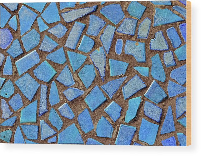 Mosaic Wood Print featuring the photograph Mosaic No. 31-1 by Sandy Taylor