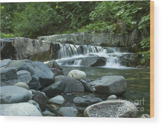 Stream Wood Print featuring the photograph Mountain Stream by Idaho Scenic Images Linda Lantzy