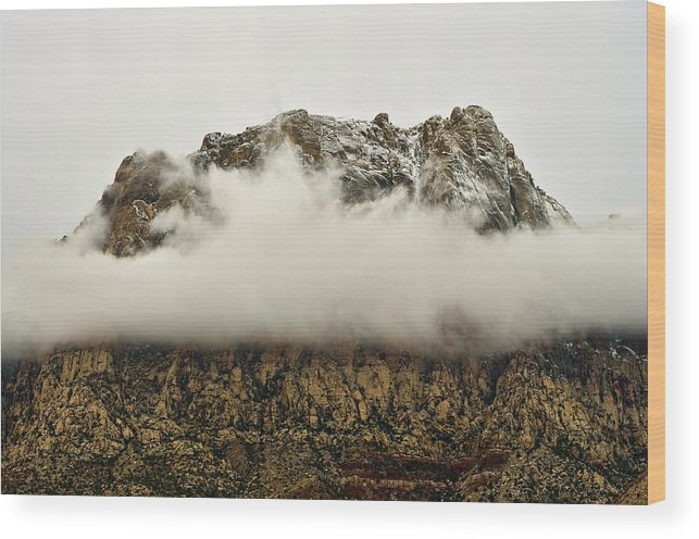 Red Rock National Conservation Area Wood Print featuring the photograph Mt. Wilson by Steven Wilson