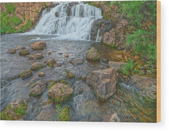 Tarryall Reservoir Spillway Wood Print featuring the photograph Muster The Courage To Love Again. Not Everybody Is Your Ex. by Bijan Pirnia