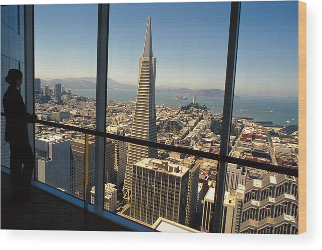 San Francisco Wood Print featuring the photograph My City On The Bay by Carl Purcell