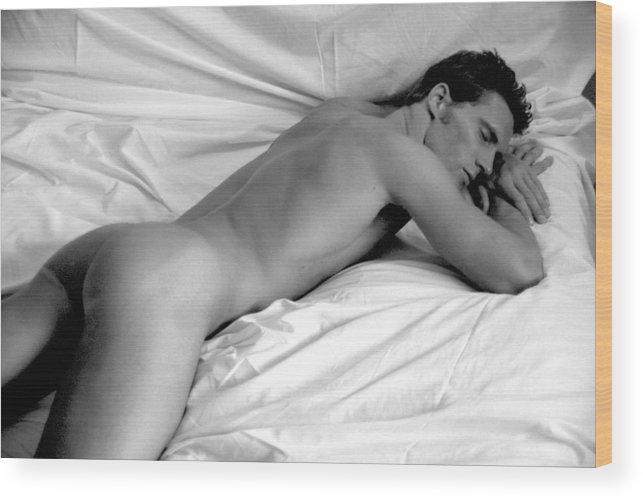 Male Wood Print featuring the photograph Napping by Dan Nelson