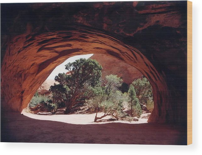Utah Wood Print featuring the photograph Navajo Arch by Kathy Schumann