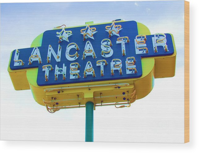 Sign Wood Print featuring the photograph Neon by Debbi Granruth