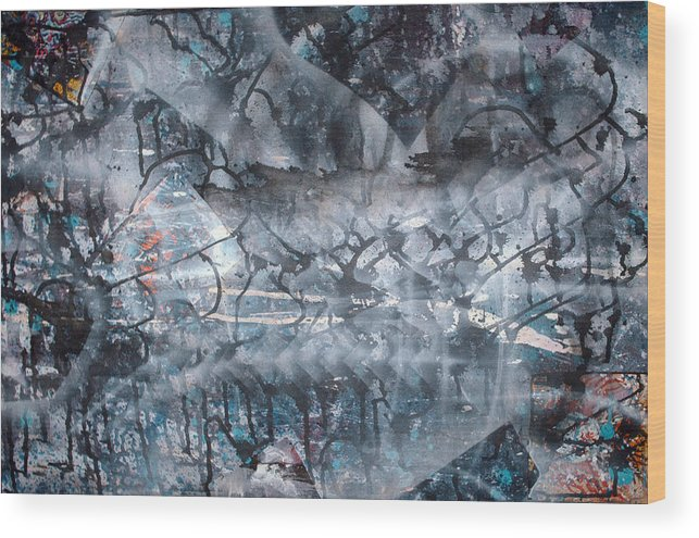 Abstract Wood Print featuring the painting Neverwas... by Leigh Odom