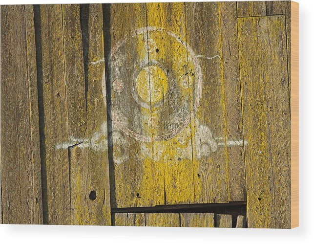 Yellow Barn Wood Print featuring the photograph New Age Barn by Mary Ourada
