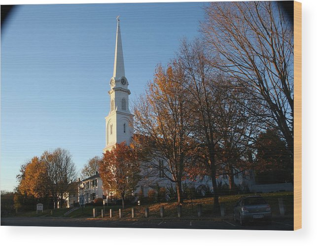 Landscape Wood Print featuring the photograph New England by Doug Mills