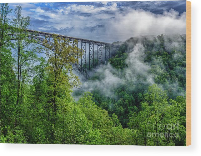 New River Gorge Bridge Morning  by Thomas R Fletcher