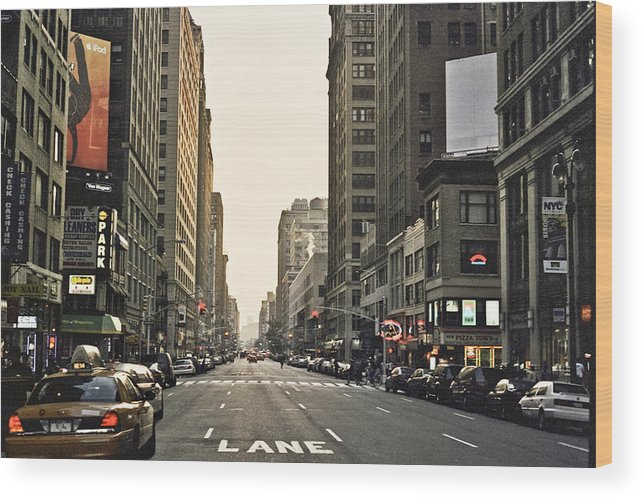 Nyc Wood Print featuring the photograph New York New York by Wes Shinn