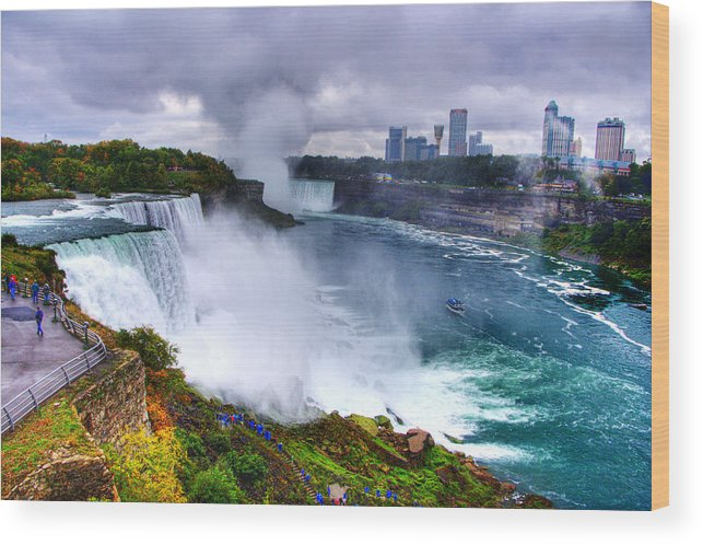 Water Wood Print featuring the photograph Niagra by Ches Black