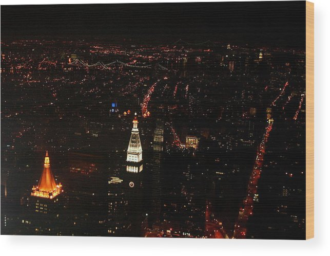 Empire State Bldg Wood Print featuring the photograph Night Lights by Susan Crittenden