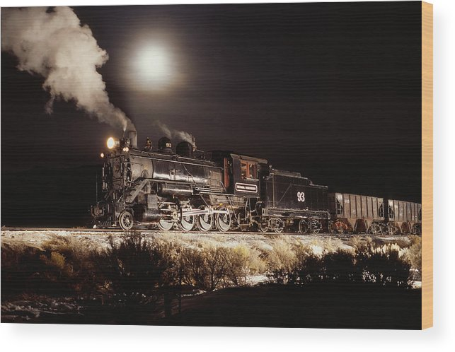 Trains Wood Print featuring the photograph Night Train by Werner Rolli