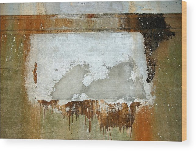 Abstract Wood Print featuring the photograph Nj Abstract Two by Heather S Huston