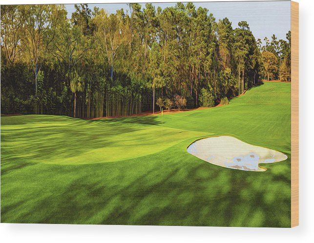 Home Art Wood Print featuring the digital art No. 4 Flowering Crabapple Par 3 240 Yards by Don Kuing