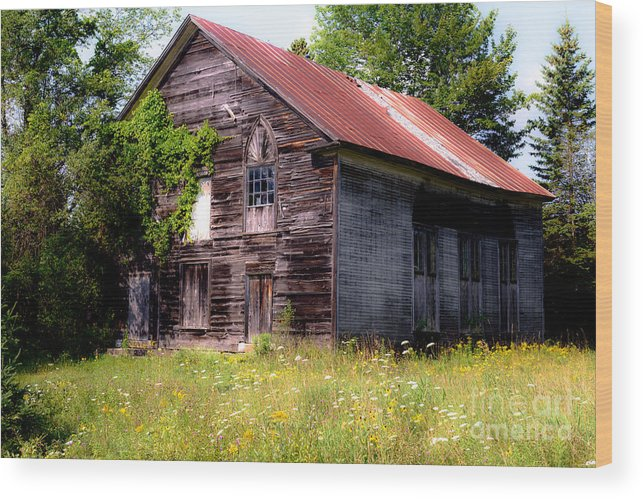 Abandoned Wood Print featuring the photograph No One Home by Sherman Perry