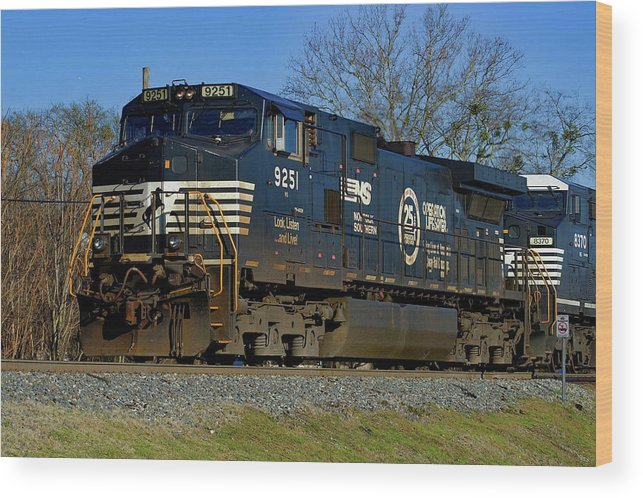 Norflk Southerm Railway Wood Print featuring the photograph Norfolk Southern Operation Lifesaver Dash 9 A by Joseph C Hinson Photography