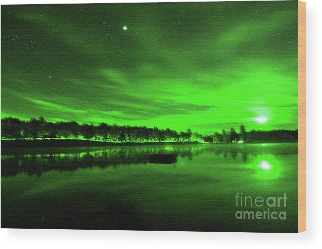 Northern Lights 3 Wood Print featuring the digital art Northern Lights 3 by Chris Taggart